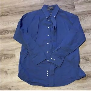 🎉Claybrooke Blue Men's Button-Down Dress Shirt